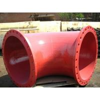 Buy cheap BS EN598 epoxy ductile iron fittings -red Double flnage bend from wholesalers
