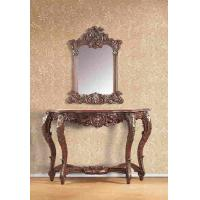 Buy cheap Home Furniture Antique Resin Console Table With Mirror Brown Color from wholesalers