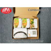 Buy cheap 1360ml Volume Aluminium Foil Takeaway Food Containers 5 Compartments Various Size from wholesalers