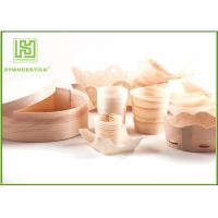 Buy cheap Pine / Poplar Wooden Sushi Boat / Cups For Restaurant Different Shape Size from wholesalers