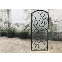 Buy cheap Rust Prevention Wrought Iron Glass Door Inserts , Hollow Iron Glass Doors from wholesalers
