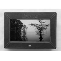 Leather 7 Inch Video High Resolution Digital Picture Frame With Remote Control