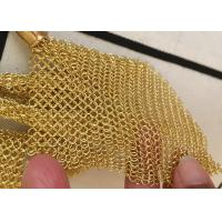 Buy cheap Customized Chainmail Ring Metal Mesh Drapery For Shopping Mall Hotel Decoration from wholesalers