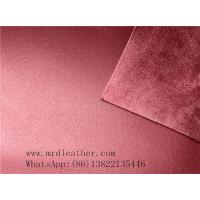 Buy cheap Good quality genuine leather handfeeling  PVC suede backing for shoes and bags making from wholesalers