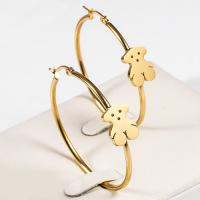 Buy cheap Lovely Large Dangle Hoop Earrings , Stainless Steel Gold Plated Hoop Earrings from wholesalers