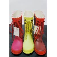 Buy cheap Short Yellow Or Red Lace Up Ladies / Womens Rain Boot Size 38 from wholesalers