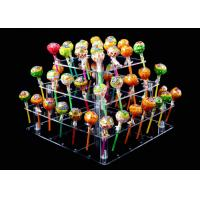 Buy cheap Toxic Free 4 Tier Clear Acrylic Cake Stand 56 Holes Lollipop Cake Holder from wholesalers