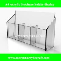 Buy cheap A4 Acrylic Brochure Display Rack, Clear Counter Standing Brochure Holder Made In China from wholesalers