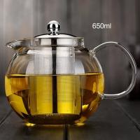 Buy cheap 1000ml Fire directly 2 4 6 cup tea pot india stainless steel filter teapot heat resistance glass teapot from wholesalers