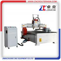 Buy cheap 2 heads woodworking cnc router 1325 with rotary axis ZKM-1325A 1300*2500mm product
