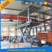 Buy cheap 5T 3M Hydraulic Car Lift for Home Garage Basement 2 Car Parking Scissor Lift CE from wholesalers