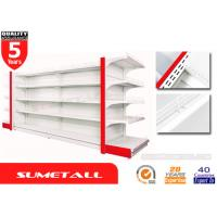 Buy cheap Light Duty Gondola Store Shelving / Shop Display Shelving Units With Humped Infill Panel from wholesalers