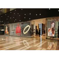 China P3.91 - P7.82 Full Color Transparent Video Glass Screen For Shop Window on sale