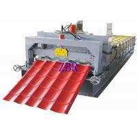 Buy cheap 380V 3 Phase Glazed Tile Roll Forming Machine , Corrugated Sheet Making Machine product