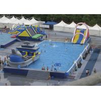 Buy cheap Summer Water Slide Amusement Park Above Ground Metal Pool Playground Equipment Use from wholesalers