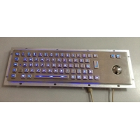Buy cheap Rugged Vandal Proof Metal PC Keyboard USB PS2 Interface Steel Mechanical Keyboard from wholesalers