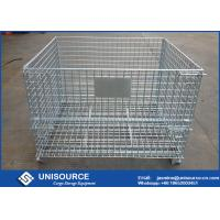 Buy cheap Logistic Transporting Steel Wire Cage Stackable Storage For Wine Bottle from wholesalers
