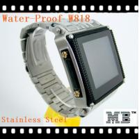 Buy cheap Watch Phone W818 Quad Band Camera Bluetooth Java GPRS 1.3M Camera 1.5-inch Touch Screen from wholesalers