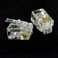 Buy cheap Transparent RJ-9 Modular Plug, Made of PC Material, Suitable for Cat 5/Cat 5e Cable/Telephone Wire from wholesalers