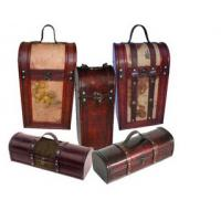 Buy cheap Classic and luxury treasure chest wooden custom wine box, wooden for 2 wine bottles from wholesalers