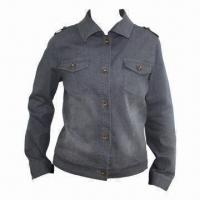 Buy cheap Women's Denim Jacket with One Snap, Two Chest Pocket from wholesalers