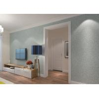 China Sky Blue PVC Accurate Pressing Victorian Damask Wallpaper for Corridor , SGS Approved on sale