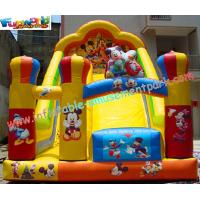 Buy cheap Custom Kids Amusement Mickey Commercial Inflatable Slide with strong handles safety product