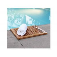 Buy cheap Organic Bamboo Bathroom Suppliers Mat Shower Floor Mat Non Slip from wholesalers