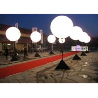 China White Color Light Up Balloons , Inflatable Lighting Decoration 1.5m Diameter on sale