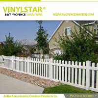 Buy cheap Vinyl Picket Fence Made by Virgin Plastic from wholesalers