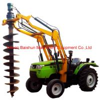 Buy cheap Pole wrection machine with pole lifter with hydraulic post hole digger from wholesalers