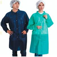 Buy cheap Non Woven PE Coated Disposable Lab Coats PP Protective Barrier Gowns CE / ISO9001 from wholesalers