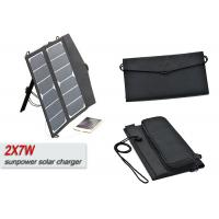 Buy cheap 14w Foldable Portable 12 Volt Solar Panel Battery Charger For RV / Mobile Phone product