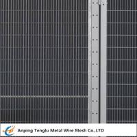 Buy cheap Security Fence Panels|Carbon Steel Wire Fencing Security Barrier with Mesh Size 200x50mm from wholesalers