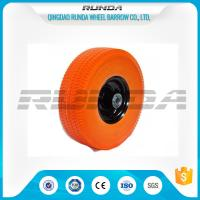 Flat Free PU Foam Wheel Carbon Steel Bearing 20mm Inner Hole Oil Dirt Resistant