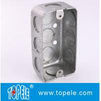 """TOPELE Steel Rectangular Switch Handy Box with Single Gang , 58351, 1-7/8"""" knockout"""