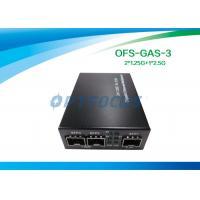 2 × 1.25G to 2.5G Gigabit Ethernet Media Converter , SFP to SFP