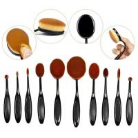 Buy cheap Cosmetics Full Makeup Brush Set , 10 Piece Oval Toothbrush Makeup Brushes product