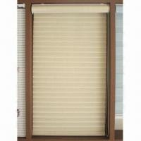 Buy cheap Shangri-la blind, tri-laminar fabric in yellow, rolling-over or folding for dimming available from wholesalers