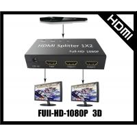 Buy cheap 2 Ways hdmi splitter support 3d Full HD Silvery or Black from wholesalers