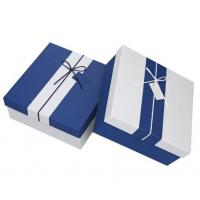 Buy cheap Rectangle shape logo customized paperboard storage box for different gift with Ribbon from wholesalers
