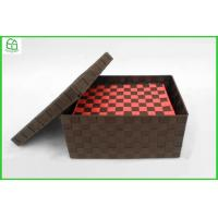 Buy cheap 100% handwoven S/2 PP/Nylon rectangle home storage basket ,storage box with removable lid from wholesalers