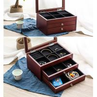 Buy cheap Ladies Modern Stackable Jewelry Storage Box With Glass Lid / Drawers from wholesalers
