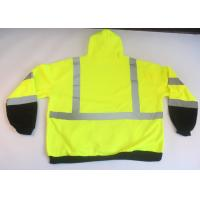Buy cheap Safety Hi Vis Fleece Hoodie , reflective safety clothing with 3M reflective tape from wholesalers