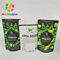 Buy cheap Laminated Material Stand Up Pouch Bags Moringa Leaf Powder Packaging With Zipper from wholesalers