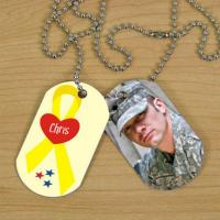 Buy cheap Fashion Personalised Dog Name Tags , Offset Printed Metal Pet ID Tags from wholesalers