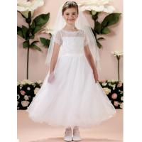Buy cheap China Flower Girl Dress/ Short Sleeve Lace Little Princess Flower Girl Dress from wholesalers