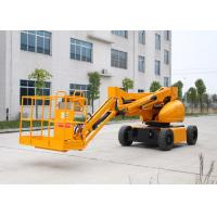 Buy cheap 10M Electric Powered Articulated Hydraulic Boom Lift With 200KG Lifting Capacity Trojan Battery from wholesalers