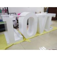Buy cheap White Large Wooden LED Love Marquee Letters Free Standing For Wedding Lights from wholesalers