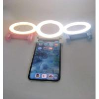 Buy cheap 2018 New Arrival Circle Rechargeable USB Selfie Led Ring Light with 58LED/makeup mirror for phone(full-screen) from wholesalers
